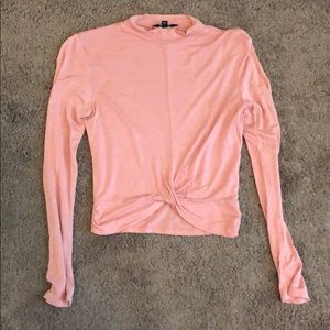 Pink long sleeve crop top. Size small